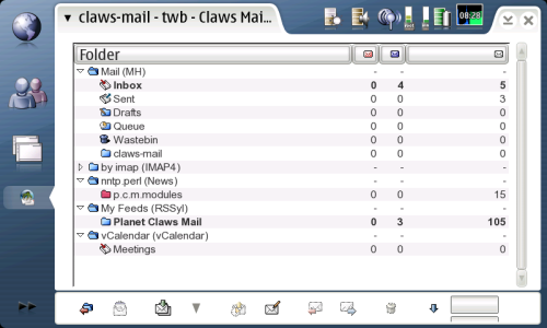 Claws Mail screenshot