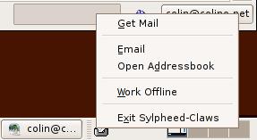 Claws Mail - TrayIcon plugin